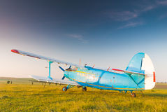 Old russian Antonov 2 airplane Stock Images