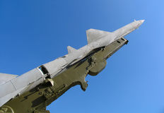 Old russian ballistic missile.  Royalty Free Stock Photos