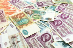 Old Russian banknotes Royalty Free Stock Photography