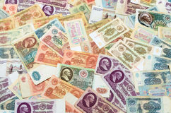 Old Russian banknotes Royalty Free Stock Photos