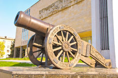 Old Russian cannon «Licorne» Royalty Free Stock Images