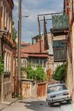 Old russian car in the center of Tbilisi Stock Images