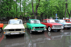 Old Russian cars Stock Images