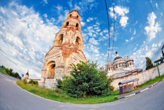 Old russian church Stock Photos