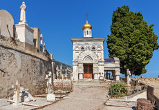 Old russian church in Menton, France. Stock Images