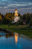 Old Russian church in Pasha Stock Image