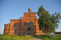 Old Russian church from a red brick Stock Photos