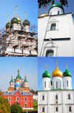 Old Russian churches collage. Stock Image