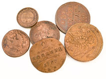 Old russian coins Stock Photos