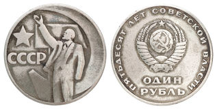 Old Russian coins royalty free stock images