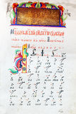 Old russian colored manuscript Royalty Free Stock Photo