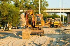Old Russian excavator Stock Photography