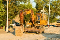 Old Russian excavator Royalty Free Stock Images
