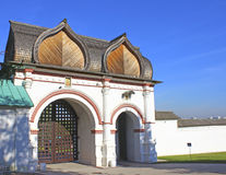 Old Russian gate. In the museum Kolomenskoye, Moscow Royalty Free Stock Images