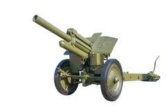 Old Russian gun cannon. Royalty Free Stock Photos
