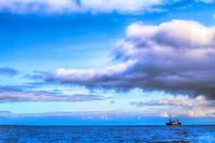 Old Russian icebreaker in Kara sea Stock Image