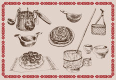 Old Russian life Royalty Free Stock Photography