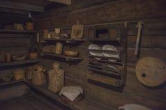 Old Russian log hut Stock Photos