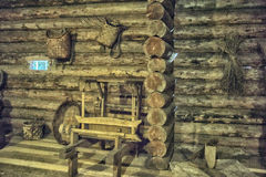 Old Russian log hut Stock Photo