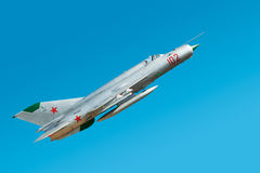 Old Russian military airplane Royalty Free Stock Images