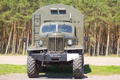 Old Russian military truck. Is parked Royalty Free Stock Photography