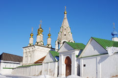Old Russian monastery in Ryazan Stock Images