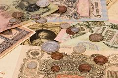 Old russian money stock photo