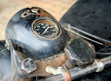 Old russian motorcycle speedometer Royalty Free Stock Images