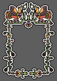 Old russian ornamental frame Royalty Free Stock Image