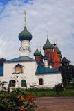 Old Russian orthodox church building. Rowan berries. Stock Photography