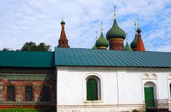 Old Russian orthodox church building under the blue sky. Royalty Free Stock Image