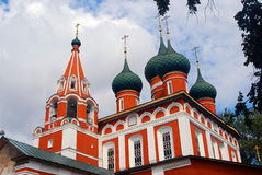 Old Russian orthodox church building. View of an old Russian orthodox church building. Taken in Yaroslavl, Russia royalty free stock photography