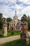 Old russian orthodox church in Muromtsevo Royalty Free Stock Photo