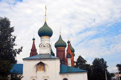 Old Russian orthodox churches building. Royalty Free Stock Photos