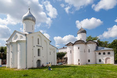Old russian orthodox churches Stock Photos