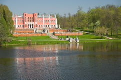 Old Russian palace Marfino Stock Photo