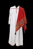 Old Russian peasant costume Stock Photo