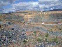 Ancient quarry, in the godforsaken Russian wilderness stock photos