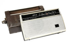 Old russian radio wirh bag Stock Images