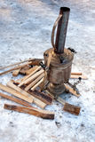 Old Russian samovar. Royalty Free Stock Photo