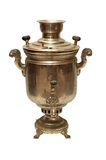 Old russian samovar. Old russian vintage bronze samovar (tradition russian kettle) from XIX century Stock Photo