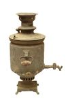 Old russian samovar. Old russian vintage bronze samovar (tradition russian kettle) from XIX century Stock Image