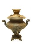 Old russian samovar. Old russian vintage bronze samovar (tradition russian kettle) from XIX century Royalty Free Stock Photography