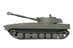 Old Russian self-propelled gun. Royalty Free Stock Photography