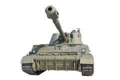 Old Russian self-propelled gun. Royalty Free Stock Image