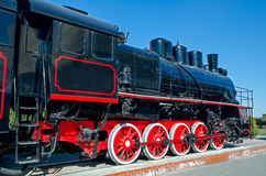 Old Russian (Soviet) steam locomotive Stock Photo