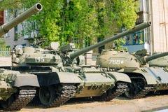 The old russian Soviet tanks Stock Photos