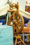 Old Russian spinning wheel Royalty Free Stock Photography
