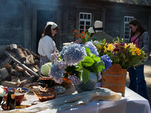 Old Russian style cooking in Fort Ross Royalty Free Stock Images