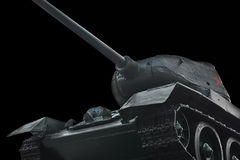 old Russian tank on a black background Stock Photography